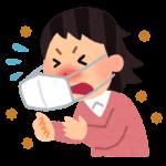 花粉症の症状が辛い女性のイラスト