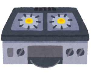 ガス台のイラスト