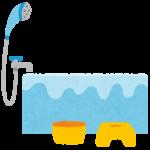 お風呂場のイラスト