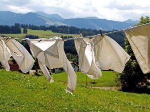 干してある洗濯物