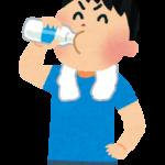 牛乳を飲んでいる人